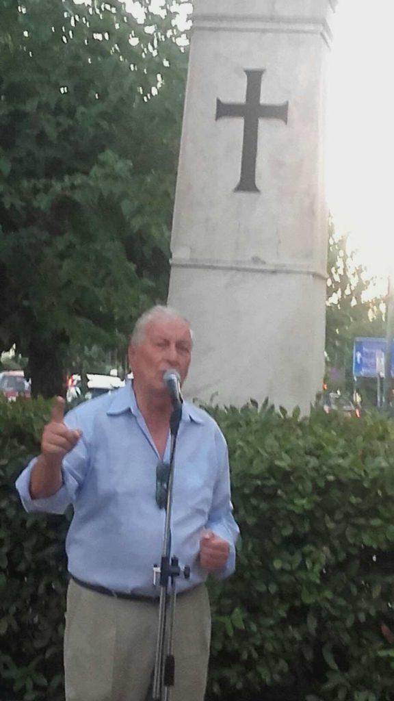 Παρών στην εκδήλωση και το ιστορικό στέλεχος του Εθνικιστικού Κινήματος, Πολύδωρος Δάκογλου, ο οποίος έκανε μία συγκινητική και συνάμα αφυπνιστική ομιλία.